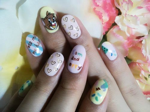 Tom_and_Jerry_nail_art_designs