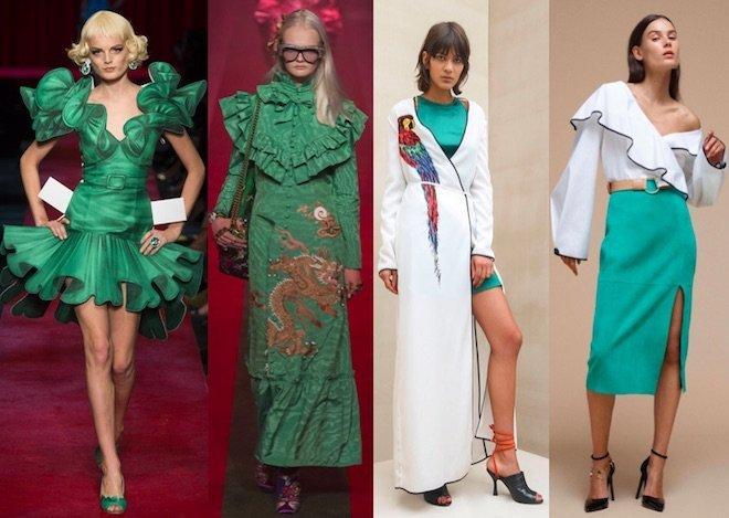 Greenery Moschino, Gucci, Attico, Diane Von Fustemberg SS17