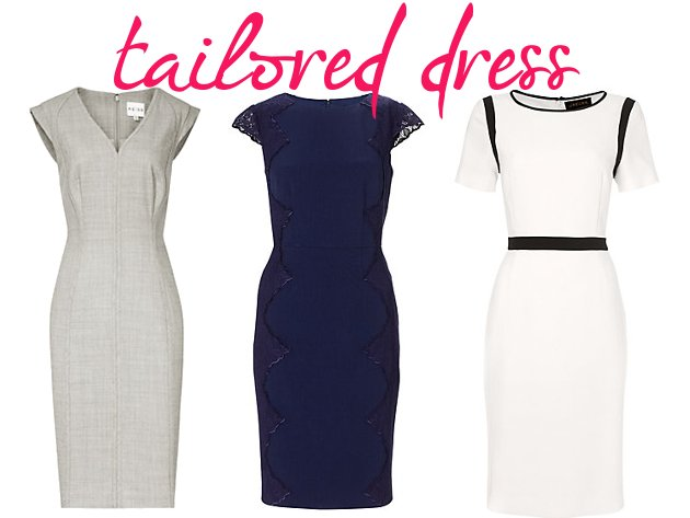 knee-length-tailored-dress