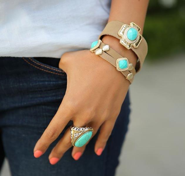 accesorii turcoaz
