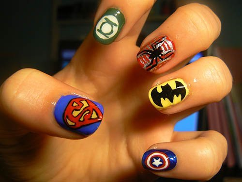 spiderman_nail_art_designs